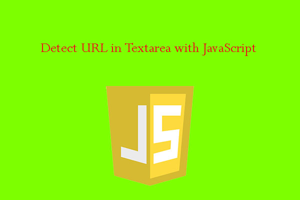 Detect URL in Textarea with JavaScript